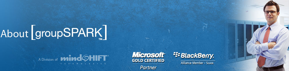 groupSPARK, a worldwide leader in providing hosted business services. A Microsoft Gold Certified Partner.